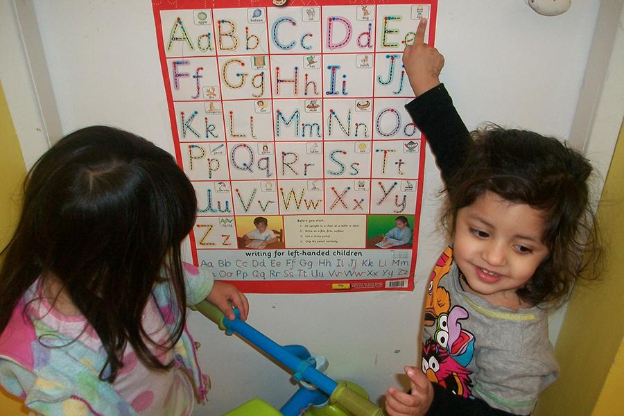 Children in a nursery